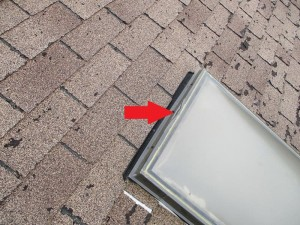 cracked skylight home inspector view