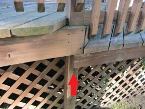 Unsupported deck joist